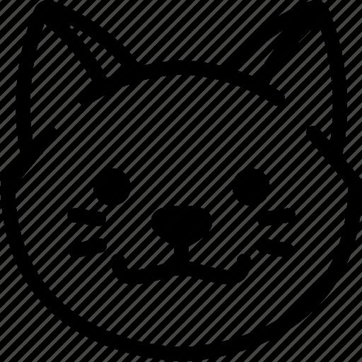 cat, emoji, emotion, expression, face, feeling, grinning icon