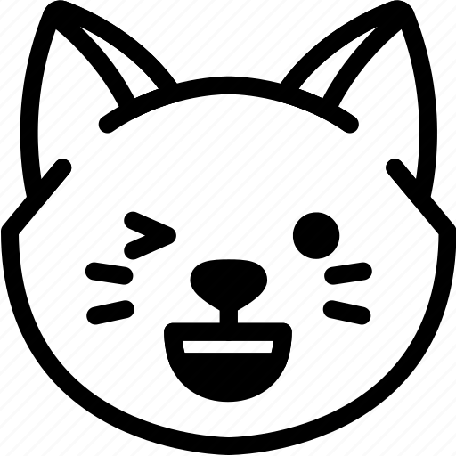 cat, emoji, emotion, expression, face, feeling, happy icon