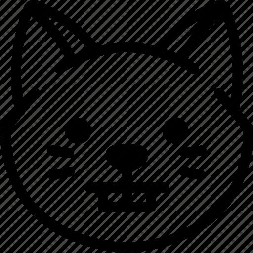 cat, emoji, emotion, expression, face, feeling, nerd icon