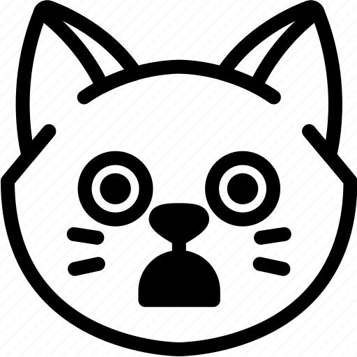 cat, emoji, emotion, expression, face, feeling, stunning icon