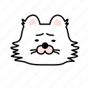 cat, character, depress, emoji, sad icon