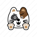 anger, cat, character, emoji, fight icon