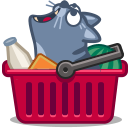 cart, cat icon
