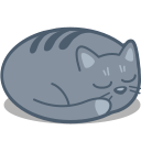 cat, sleep icon