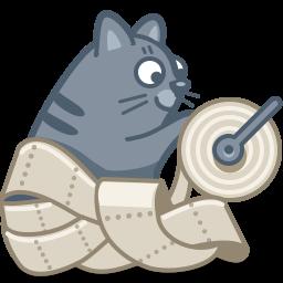 cat, paper icon