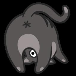 cat, upsidedown icon