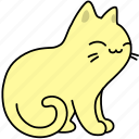 animal, cat, content, feline, happy, pet, purr icon