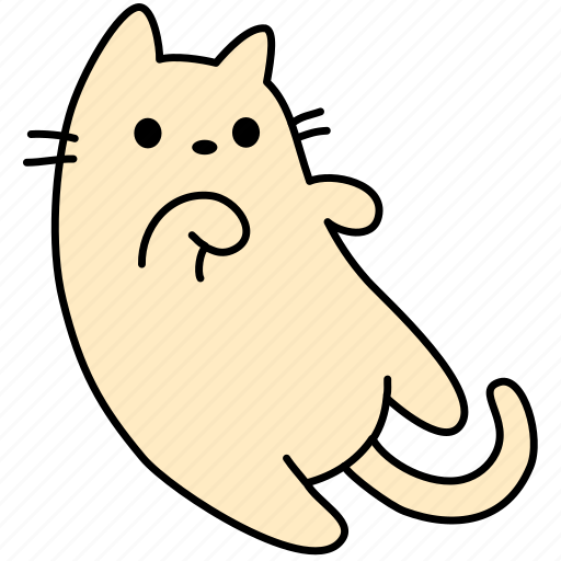 Animal, cat, cute, feline, kitty, lie, pet icon - Download on Iconfinder