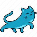 animal, cat, feline, happy, pet, stretch, walk icon