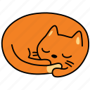 animal, cat, feline, nap, pet, rest, sleep icon