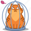 bird, cage, cat, eat, feather, mouthful, pet icon