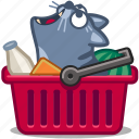 basket, buy, cart, cat, grocery, shop, store icon