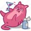 alcohol, booze, cat, cocktail, drunk, glass, pet icon