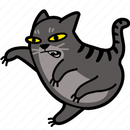 angry, carate, cat, fight, jump, karate, leap icon