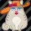 cat, elegant, female, girl, hat, lady, pretty icon