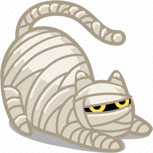 animal, cat, creepy, frighten, ghost, halloween, horror, kitty, monster, monsters, mummy, pet, scary, spooky icon