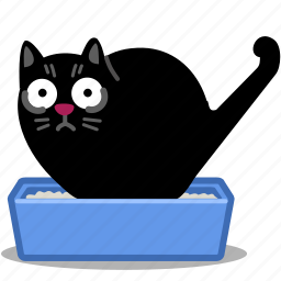 animal, cat, pet, pets, poo, tray, waste icon