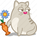cat, flower, pet, vase icon