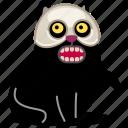 skull, pet, sinister, mask, cat, teeth, fear, scary, death, skeleton, halloween, horror, kitty, dead, animal