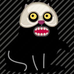 animal, cat, dead, death, fear, halloween, horror, kitty, mask, pet, scary, sinister, skeleton, skull, teeth icon
