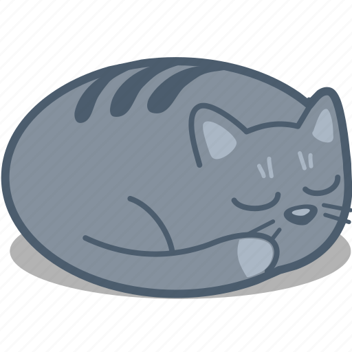 animal, cat, catnap, nap, night, pet, sleep icon