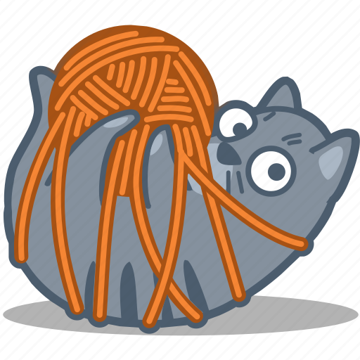 cat, pet, thread, yarn icon