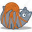 ball, cat, pet, play, tangled, thread, yarn icon