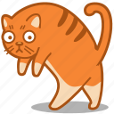 cat, feline, ginger, pet, walk icon