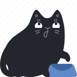 add, cat, dinner, eat, empty, food, hungry icon