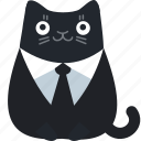 customer, business, cat, client, suit, formal, office
