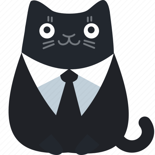 business, cat, client, customer, formal, office, suit icon