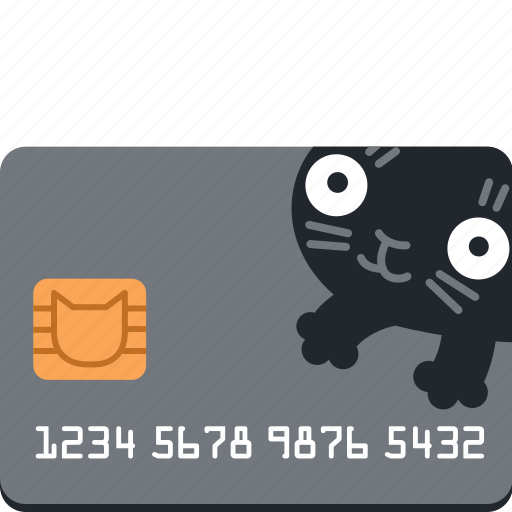 bank, buy, card, cat, credit, money, pay icon
