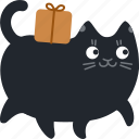 box, cat, deliver, gift, package, present, shipping icon