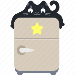 bookmark, cat, favorite, food, fridge, kitchen, star icon