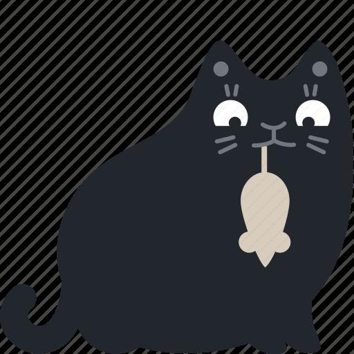 animal, cat, mouse, pet, present, reward, surprise icon