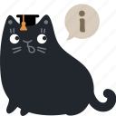 answer, cat, expert, help, info, information, support icon
