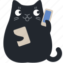 help, support, cat, phone, call, answer, communication