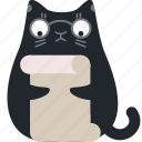 cat, document, glasses, page, preview, read, review icon