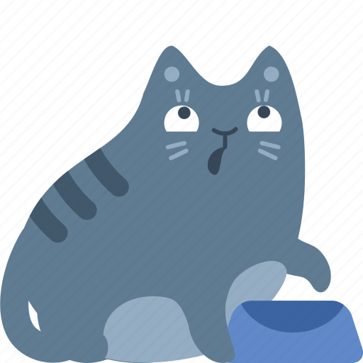 add, cat, demand, eat, food, hungry, pet icon