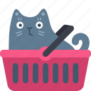 basket, buy, cart, cat, sell, shop, shopping icon