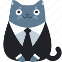business, cat, client, customer, formal, suit icon