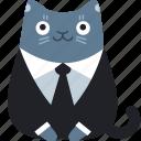 business, cat, client, customer, formal, suit
