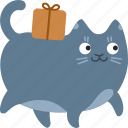 cat, delivery, gift, move, package, shipment, shipping icon