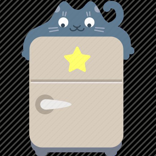 bookmark, eat, favorite, food, fridge, hug, kitchen icon