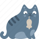 animal, bring, cat, gift, mouse, pet, present icon