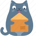 cat, email, envelope, letter, mail, message, send icon
