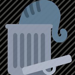 bin, cat, delete, garbage, recycle, remove, trash icon