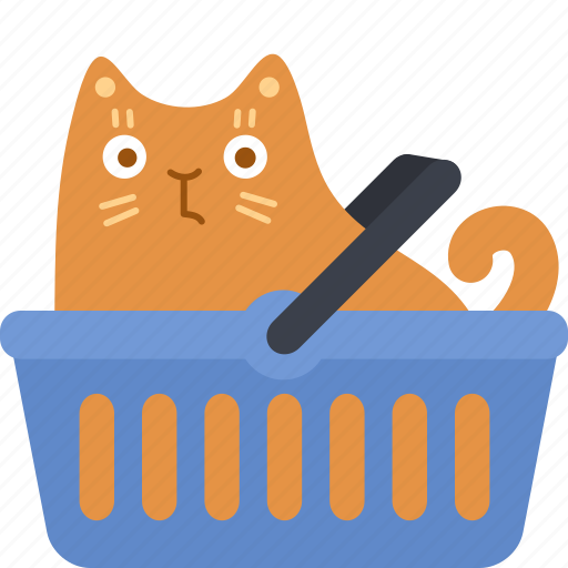basket, buy, cart, cat, purchase, shop, store icon