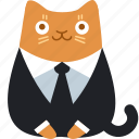 business, cat, client, customer, office, official, suit icon