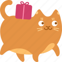 bring, carry, cat, deliver, delivery, gift, present icon